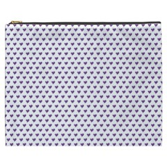 Purple Small Hearts Pattern Cosmetic Bag (xxxl)  by CircusValleyMall