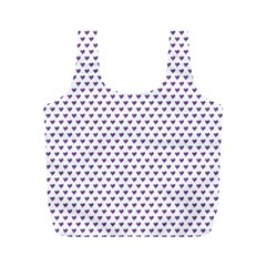 Purple Small Hearts Pattern Full Print Recycle Bags (m)  by CircusValleyMall