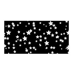Black And White Starry Pattern Satin Wrap by DanaeStudio