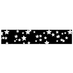 Black And White Starry Pattern Flano Scarf (small) by DanaeStudio