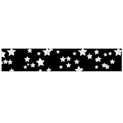 Black And White Starry Pattern Flano Scarf (large) by DanaeStudio