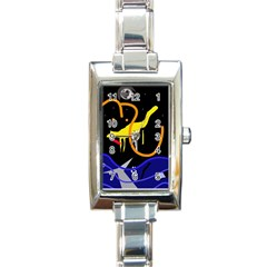 Crazy Dream Rectangle Italian Charm Watch by Valentinaart