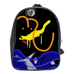 Crazy Dream School Bags (xl)  by Valentinaart