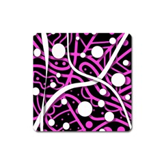 Purple Harmony Square Magnet by Valentinaart