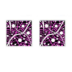 Purple Harmony Cufflinks (square) by Valentinaart