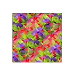 Colorful Mosaic Satin Bandana Scarf by DanaeStudio
