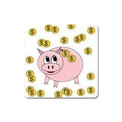Piggy Bank  Square Magnet by Valentinaart