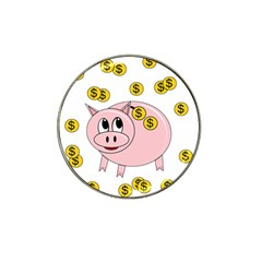 Piggy Bank  Hat Clip Ball Marker (4 Pack) by Valentinaart
