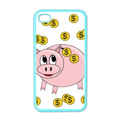 Piggy Bank  Apple Iphone 4 Case (color) by Valentinaart