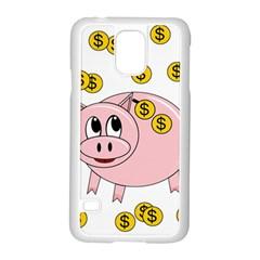 Piggy Bank  Samsung Galaxy S5 Case (white) by Valentinaart