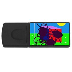 Sunny Day Usb Flash Drive Rectangular (4 Gb)  by Valentinaart