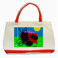 Sunny Day Classic Tote Bag (red) by Valentinaart