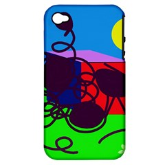 Sunny Day Apple Iphone 4/4s Hardshell Case (pc+silicone) by Valentinaart