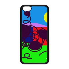 Sunny Day Apple Iphone 5c Seamless Case (black) by Valentinaart