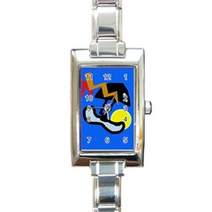 Little Bird Rectangle Italian Charm Watch by Valentinaart