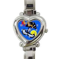 Little Bird Heart Italian Charm Watch by Valentinaart