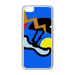 Little Bird Apple Iphone 5c Seamless Case (white) by Valentinaart