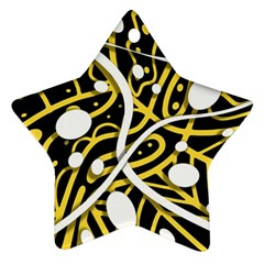 Yellow Movement Ornament (star)  by Valentinaart