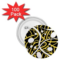 Yellow Movement 1 75  Buttons (100 Pack)  by Valentinaart