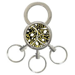 Yellow Movement 3 Ring Key Chains by Valentinaart