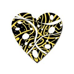 Yellow Movement Heart Magnet by Valentinaart