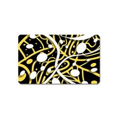 Yellow Movement Magnet (name Card) by Valentinaart