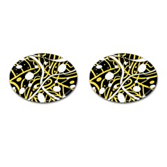 Yellow Movement Cufflinks (oval) by Valentinaart