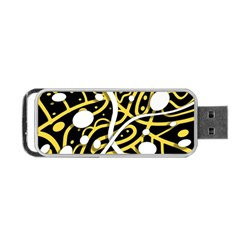 Yellow Movement Portable Usb Flash (two Sides) by Valentinaart