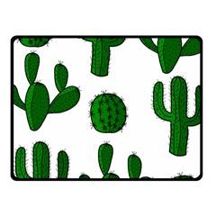 Cactuses Pattern Fleece Blanket (small) by Valentinaart