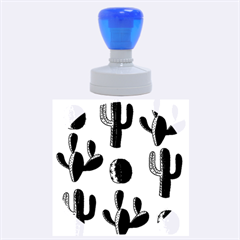 Cactuses pattern Rubber Round Stamps (Large) by Valentinaart