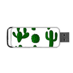 Cactuses Pattern Portable Usb Flash (two Sides) by Valentinaart