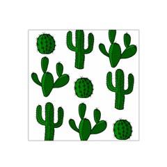 Cactuses Pattern Satin Bandana Scarf by Valentinaart