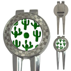 Cactuses pattern 3-in-1 Golf Divots