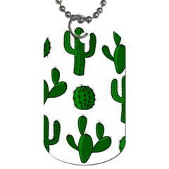 Cactuses Pattern Dog Tag (two Sides) by Valentinaart