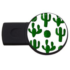 Cactuses Pattern Usb Flash Drive Round (4 Gb)  by Valentinaart
