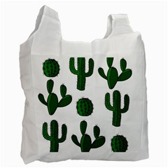 Cactuses Pattern Recycle Bag (two Side)  by Valentinaart