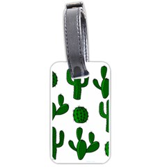 Cactuses Pattern Luggage Tags (one Side)  by Valentinaart
