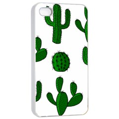 Cactuses Pattern Apple Iphone 4/4s Seamless Case (white) by Valentinaart