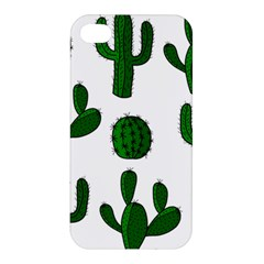 Cactuses Pattern Apple Iphone 4/4s Premium Hardshell Case by Valentinaart