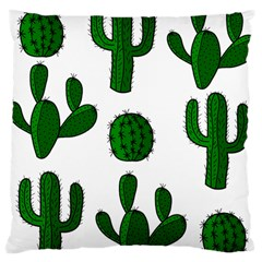 Cactuses Pattern Large Cushion Case (two Sides) by Valentinaart