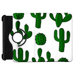 Cactuses pattern Kindle Fire HD Flip 360 Case by Valentinaart