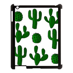 Cactuses Pattern Apple Ipad 3/4 Case (black) by Valentinaart