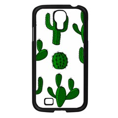 Cactuses Pattern Samsung Galaxy S4 I9500/ I9505 Case (black) by Valentinaart