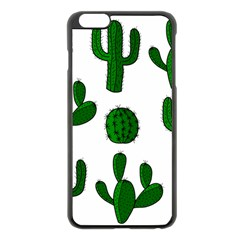 Cactuses Pattern Apple Iphone 6 Plus/6s Plus Black Enamel Case by Valentinaart