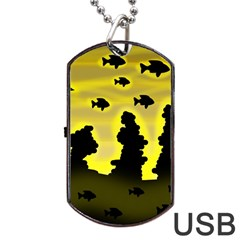 Khazar s Dream  Dog Tag Usb Flash (two Sides)  by Valentinaart