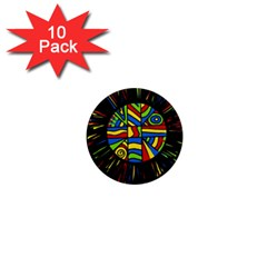 Colorful Bang 1  Mini Magnet (10 Pack)  by Valentinaart