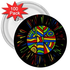 Colorful Bang 3  Buttons (100 Pack)  by Valentinaart