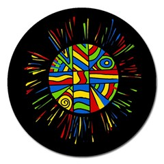 Colorful Bang Magnet 5  (round) by Valentinaart