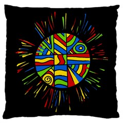 Colorful Bang Standard Flano Cushion Case (two Sides) by Valentinaart
