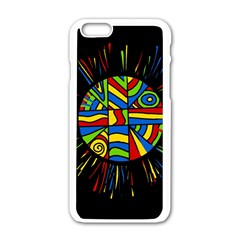 Colorful Bang Apple Iphone 6/6s White Enamel Case by Valentinaart